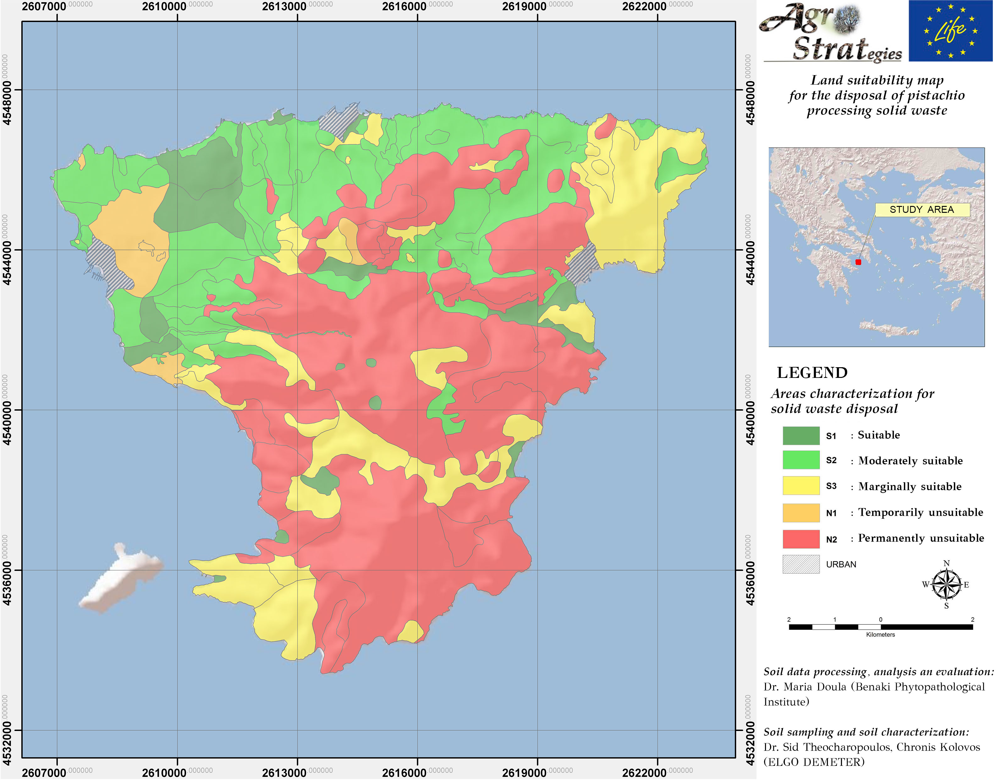 Land Suitability Maps for the distribution of pistachio waste ... on