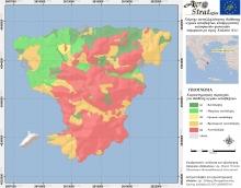 Δρ. Μ. Κ. Ντούλα.Χάρτης Καταλληλότητας Εδάφους για τη διασπορά υγρών αποβλήτων κελυφωτών φυστικιών ν. Αίγινας ως προς την περιεκτικότητα σε διαθέσιμο Χαλκό (LIFE-AgroStrat)