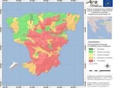 Δρ. Μ. Κ. Ντούλα.Χάρτης Καταλληλότητας Εδάφους για τη διασπορά υγρών αποβλήτων κελυφωτών φυστικιών ν. Αίγινας ως προς την περιεκτικότητα σε ανταλλάξιμο Κάλιο (LIFE-AgroStrat)