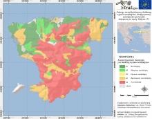 Δρ. Μ. Κ. Ντούλα.Χάρτης Καταλληλότητας Εδάφους για τη διασπορά υγρών αποβλήτων κελυφωτών φυστικιών ν. Αίγινας ως προς την περιεκτικότητα σε ολικό Άζωτο (LIFE-AgroStrat)