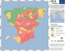 Δρ. Μ.Κ.Ντούλα.Χάρτης Καταλληλότητας Εδάφους για τη διασπορά υγρών αποβλήτων κελυφωτών φυστικιών ν. Αίγινας ως προς την περιεκτικότητα σε διαθέσιμο Ψευδάργυρο (LIFE-AgroStrat)